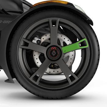 Adhesivos para ruedas - Verde supersónico
