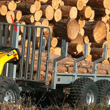 Panel de retención para troncos