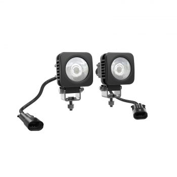 Luces LED cuadradas de 5 cm (2 x 10 W)